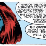 """We'll start by attacking a dude at a Holocaust memorial. It'll be great practice for your PR team!"" (Uncanny X-Men #199)"