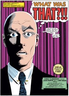 Professor Xavier reacts to the Xorn retcons. (Uncanny X-Men #196)