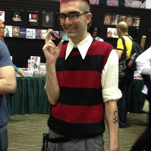 """This """"Riot at Xavier's"""" Quentin Quire--complete with a Kick inhaler--is the first QQ cosplay that I will voluntarily admit is better than mine."""