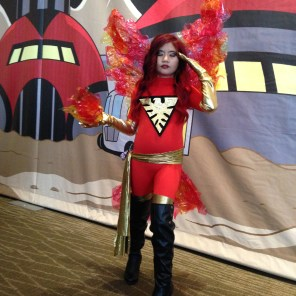 A very young Dark Phoenix in the hands-down best version of the classic costume that I saw all weekend. Her parents told me that this was her first con; I assume that by this time next year she'll be running the world.