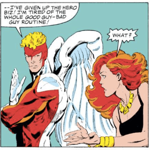 """Seriously, Warren, you are LITERALLY WEARING A SUPERHERO COSTUME RIGHT NOW."" (X-Factor #1)"
