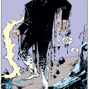 The Beyonder comes off as a petulant child in a lot of Secret Wars, but in New Mutants, he's legitimately terrifying. (New Mutants #37)