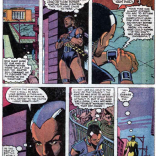 Best outfit, best character, worst attempt at a cliffhanger. Also, I'm pretty sure one of us used to have a Mage: The Ascension character named Time Shadow. (X-Factor #4)