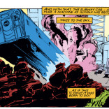 Hey, look! It's a literal derailment in the middle of a metaphorical derailment! (New Mutants #36)