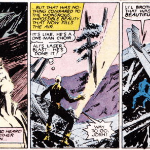 Later, he'll sprout wings, but we try not to talk about that story. (New Mutants #42)