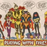 The second round of graduation costumes weren't much better. (New Mutants #61)