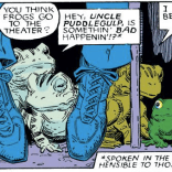 I am totally willing to believe that the Simonsons can comprehend the language of beasts, or at least of Thor's frog bros. (X-Men Annual #10)