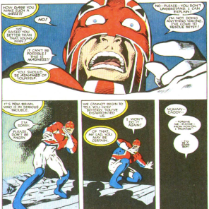 It also sucks to be Captain Britain fairly frequently, although still generally less than it sucks to be Psylocke. (New Mutants Annual #2)
