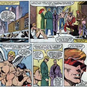 """An invitation to a crossover? Hot dog!"" (X-Factor #8)"