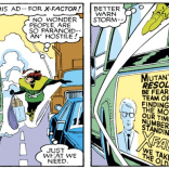 We'd make a joke about taking a drink for every X-Men/X-Factor near miss, but you'd die of alcohol poisoning before the end of the crossover. (Uncanny X-Men #210)