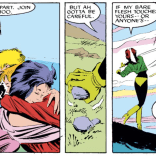"""Y'all enjoy your group hug. I'm just gonna FLING THIS FUCKING ROCK INTO SPACE."" (Uncanny X-Men #218)"