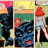 Hank really hasn't been running his whole life, but film noir dialogue seems appropriate for the debut of the black (soon to be blue) Beast. (Amazing Adventures #15)