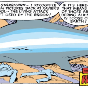 This plotline will continue to dangle for like a year and a half. (Uncanny X-Men #218)