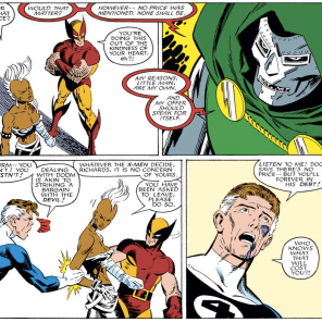 Reed, he literally just said he was doing it for free. (Fantastic Four Versus the X-men #2)