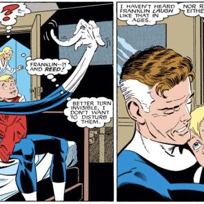 Still a terrible parent, but he has his moments. (Fantastic Four Versus the X-men #3)