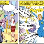 Depictions of sound in visual media are really fascinating. This is one of the cooler effects! (Uncanny X-Men #222)