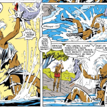 That time Storm caught a fish like a bear. (Uncanny X-Men #223)