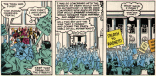 I swear at least one of those picket signs is straight-up lifted from Uncanny X-Men #200. (X-Men vs. Avengers #4)