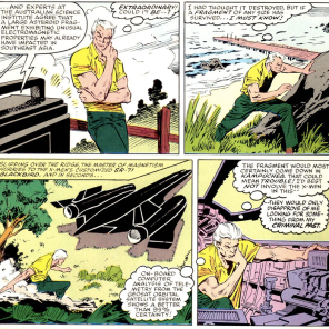 """""""But they don't trust me! I know! I'll sneak away! That'll help!"""" (X-Men vs. Avengers #1)"""