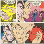 """Psst, kid. Drugs make you cool. Pass it on!"" (New Mutants #55)"