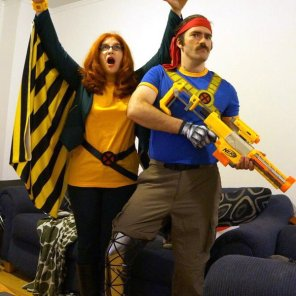 Speaking of X-Men who don't get nearly enough cosplay love, check out the always-awesome @Elana_Brooklyn and her husband as Siryn and Forge!