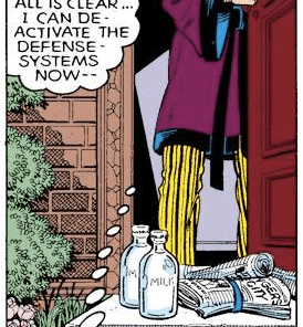 I guess when your job is cleaning up after Tony Stark, the existential hellscape of Funky Winkerbean starts to feel like a vacation. (X-Men Annual #3)