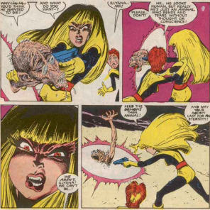 Later, she justifies this by saying that it's what Doug would have wanted, which seems questionable. (New Mutants #60)
