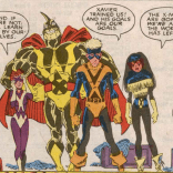 And to add insult to injury, somehow the graduation costumes got even worse. (New Mutants #61)