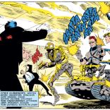 The Reavers. No, not those reavers. The other Reavers. One of them's a tank. Centank. Tanktaur. (Uncanny X-Men #229)