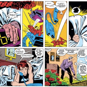 The stark normalcy of (human) life on Genosha is played for pretty spectacular contrast to horror's it's built upon. (Uncanny X-Men #236)