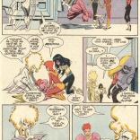 There's either a whole lot or very little going on here, and sometimes it's difficult to work out which. (New Mutants #68)