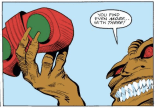 Seriously, though--wouldn't it be funnier if this were just a regular Viewmaster? (X-Terminators #2)