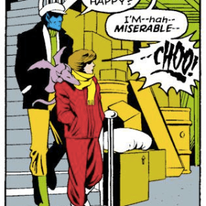 Including this panel purely for Kurt's dashing outfit. (Excalibur #3)