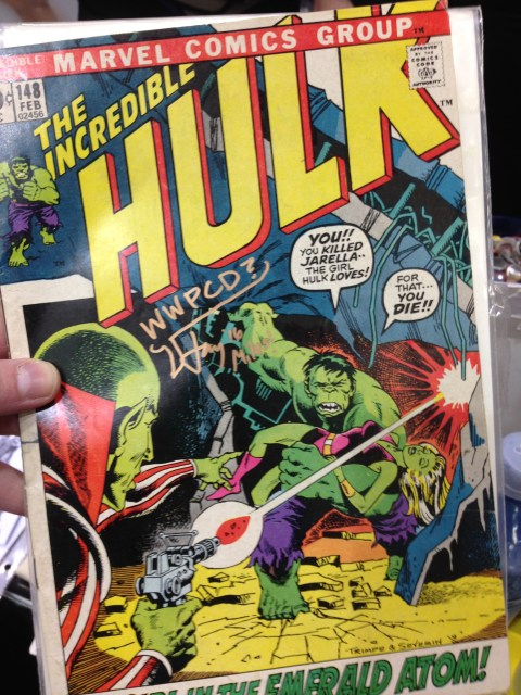 Someone asked us to sign their copy of The Incredible Hulk #148, which features what may be the most important character debut in Marvel history.