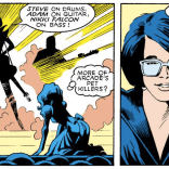 It's our favorite fictional-but-also-real band, Cats Laughing! (Excalibur #5)