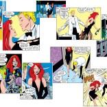 Here's every panel of Madelyne's black dress, in order. (Uncanny X-Men #240)