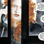 I cannot get over the way Muth paints Scarlett's hair. (Havok & Wolverine: Meltdown #3)
