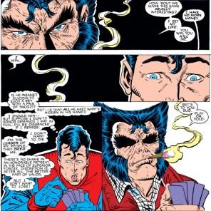 Wolverine plays poker hard.