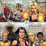 """""""Selene... What the hell are they wearing?"""" """"I... I have no idea, kids."""" (New Mutants Forever #3)"""