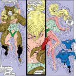 Namorita's pretty awesome, but... why would you wear that underwater? (New Mutants Annual #5)