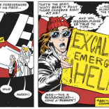 I really love this bit--it's a very clever move on Kitty's part and sets up a wedding-crashing brawl, which is always a visual treat. (Excalibur: Mojo Mayhem)