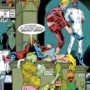 I want a statue of this cover SO BAD. (Excalibur #9)
