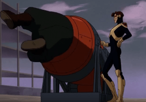 Cyclops's pose and smug little smile are delightful.