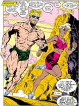"""""""This Jim Lee workout program has been working really well! Also, Ali, maybe you should start using sunscreen?"""" (Uncanny X-Men #248)"""