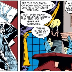 Colossus's teacher is totally going to call Mr. and Mrs. Rasputin in for a parent-teacher conference. (Uncanny X-Men #249)