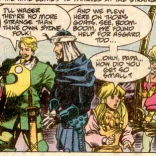 Let's have a moment of awed silence for the sheer audacity of Baldur's outfit. (New Mutants #84)