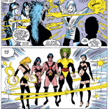 Remember that time the Morlocks brought Professor Xavier back from the dead and then dressed him in bondage gear? Good times. (Uncanny X-Men #254)