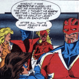 She looks so happy about her not-a-pep-talk! (Excalibur #20)