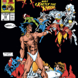 False-flag X-Men covers are kind of a running joke in this series. (Excalibur #19)