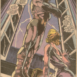 Backlighting: the difference between camp and divinity. (New Mutants #81)